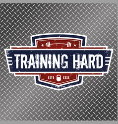 training hard vector image vector image