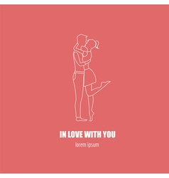 Valentines day logo design template Graphic vector image vector image