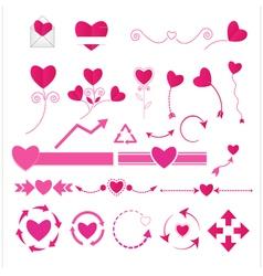 Wedding graphic set vector image vector image