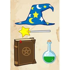Wizard tools vector image vector image
