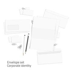 Envelope corporate identity elements vector image