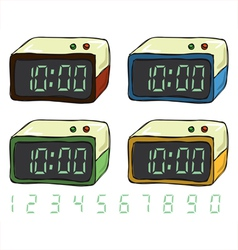 Digital Clock Set vector image