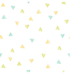 cute triangles repeated background vector image