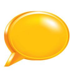 orange empty speech bubble icon vector image