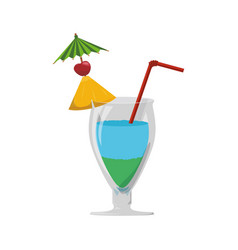 Glass cocktail straw vector