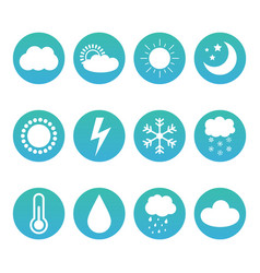 Set collection of weather and meteorology icons vector
