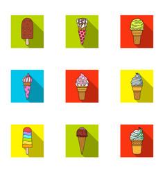 summer sweets ice cream ice fruit milk ice vector image