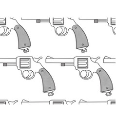 revolver seamless pattern vector image