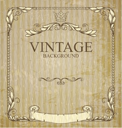 Vintage frame with branches vector