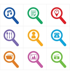 Icon search vector