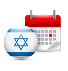 Icon of national day in israel vector