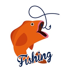 Fishing design vector