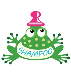 Shampoo frog vector
