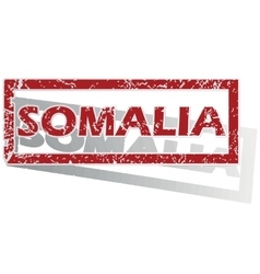 Somalia outlined stamp vector