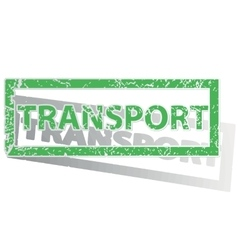 Green outlined transport stamp vector