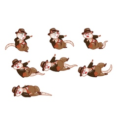 Adventurer Rat Dying Sprite vector image