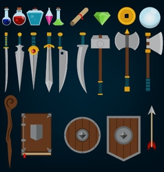Fantasy medieval game assets vector
