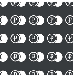 Straight black ruble coin pattern vector