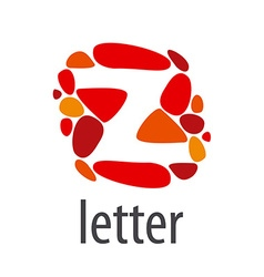 Logo abstract letter z of colored stones vector