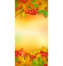 Autumn vertical banner vector