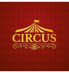 Circus vintage badge vector