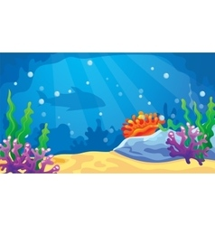 Game underwater world background vector