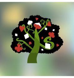 Alice Tree from Wonderland Garden or Forest vector image