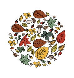 Autumn beauty card vector image