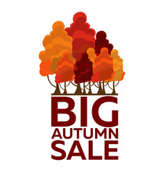 autumn trees logo big autumn sale vector image