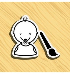 baby with toy design vector image