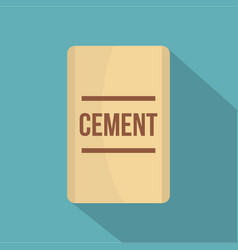 Bag of cement icon flat style vector