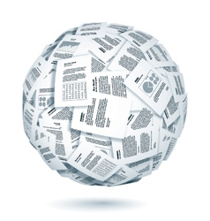 Ball of documents vector