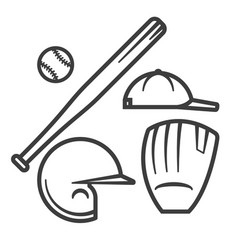 baseball equipment vector image
