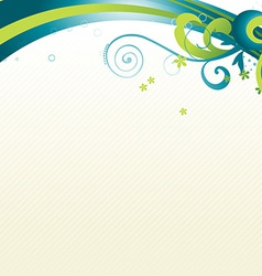 beautiful wave vector image vector image