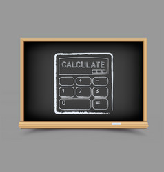 blackboard mathematics calculate lesson vector image
