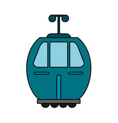 Blue cable car transport image vector