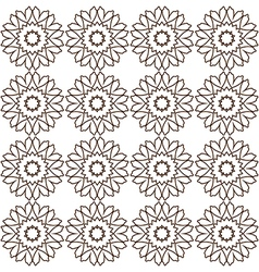 Brown abstract lace flowers on the white backdrop vector