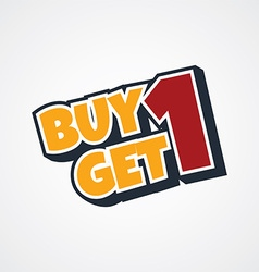 Buy one get one free vector