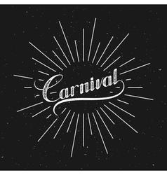 Carnival retro label vector