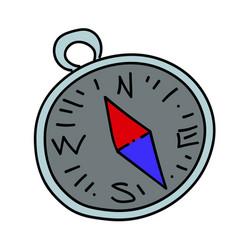 compass cartoon hand drawn image vector image