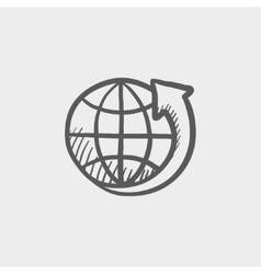Earth design sketch icon vector