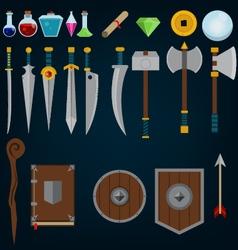 Fantasy medieval game assets vector