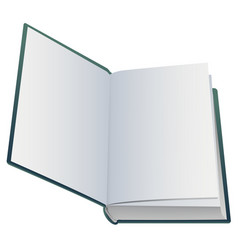 First blank page of open book vector