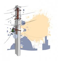 Grunge urban pillar vector