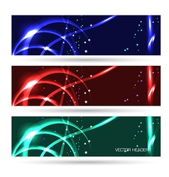 headers set abstract vector image