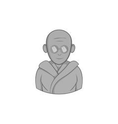 Indian male icon black monochrome style vector