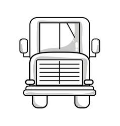 Line school bus to children transportation vector