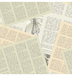 Newspaper pattern seamless vector