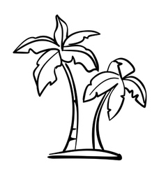 Palm icon sketch cartoon vector