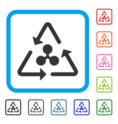 Ripple recycling framed icon vector